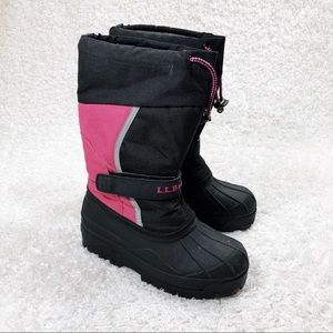 L. L. Bean Pink and Black Winter Boots